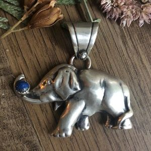 Adorable sterling silver elephant pendant